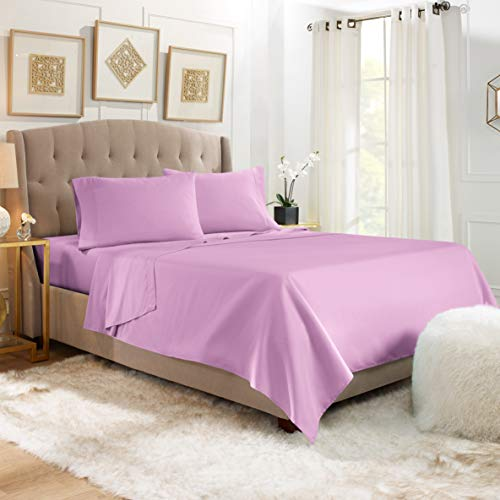 4 Piece Twin Sheets - Bed Sheets Twin Size – Bed Sheet Set Twin Size - 4 PC Sheets - Deep Pocket Twin Sheets Microfiber Twin Bedding Sets - Twin - Lavender Dream