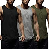 COOFANDY Mens Workout Tank Tops 3 Pack Sleeveless Shirts Gym Bodybuilding Muscle Tee Shirts...