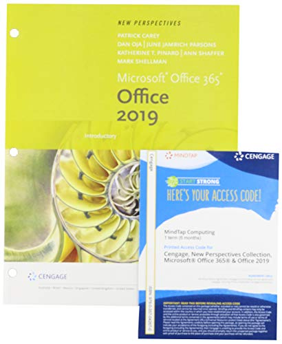 Bundle: New Perspectives Microsoft Office 365 & Office 2019 Introductory, Loose-leaf Version + MindTap, 1 term Printed Access Card