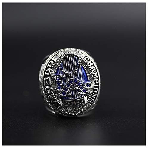 2020 MLB Dodgers Championship Ring Liga de béisbol tamaño 8-14 Fan souvenirs réplica movimiento anillo con caja de madera regalo de cumpleaños, 9