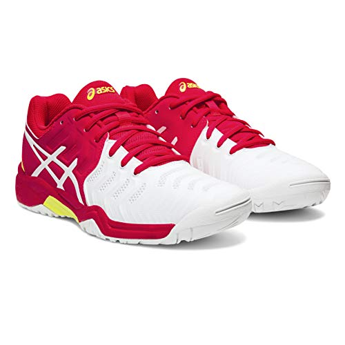 ASICS Gel-Resolution 7 GS C700y-116, Scarpe da Tennis Unisex-Bambini, Blanc Rose, 35.5 EU