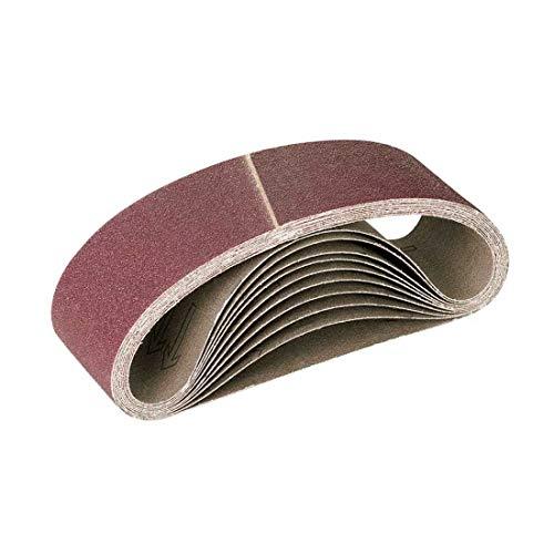 MENZER Red Schleifbänder, 303 x 40 mm, Korn 120, f. Handbandschleifer, Normalkorund (10 Stk.)