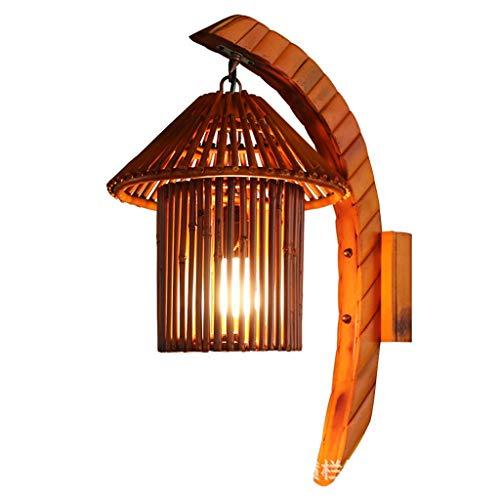 Wandlamp Natuurlijke Bamboe Art Muurlampen Hand Geweven Personality Cafe Bar Restaurant Corridor Creative Decoration Wandlamp