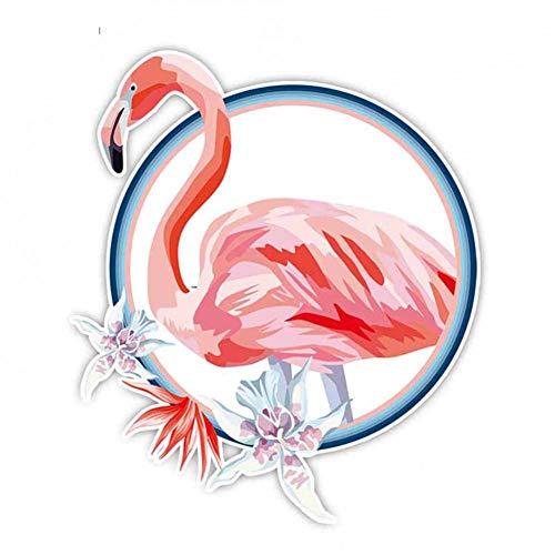 LGDQ Auto-Aufkleber 16Cm * 14Cm Schöne Blume Flamingo Autozubehör PVC Auto Aufkleber Aufkleber Snowboard Helm Gepäckraum Aufkleber