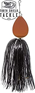Tooth Shield Tackle Chubby Single 10 Musky Bucktail (Black/Burnt Orange) Muskie Pike Inline Spinner Musky Lures Baits Tackle