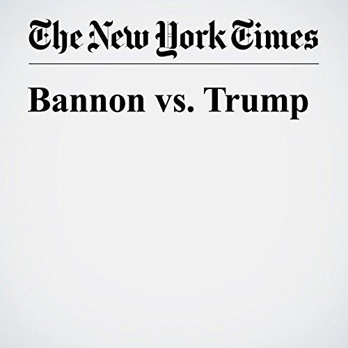 Bannon vs. Trump copertina