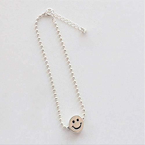 CKAWM Halskette Smiley Gesicht Form Ball Armband Schmuck Trend Geschenk Armband