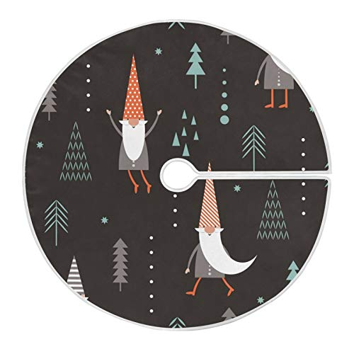 Vipsa Christmas Tree Skirt, 47.2 in (120cm) Christmas Gnomes And Tree Tree Skirt for Xmas Tree Decorations and Ornaments