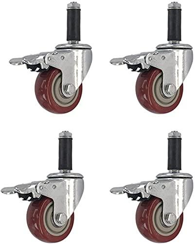 XLYYHZ-paket med 4 hjul, expansionshjul, 100 mm svänghjul, kraftiga hjul med bromsar kan användas i luftkonditioneringsapparater (färg: 4 × broms, storlek: 3 tum)