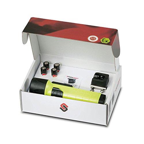 Parat 6911220158 Limited Fire-Edition Sicherheitslampe inkl. PARASNAP© Helmhalter Rechts, 1 Stück, gelb, 6.911.220.158