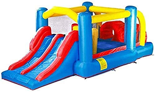 SGSG Castillo Inflable, Tobogán Inflable, Gran Juguete para Interiores y Exteriores, Trampolín Hinchable, Equipo de Fitness para Parques de Atracciones para niños