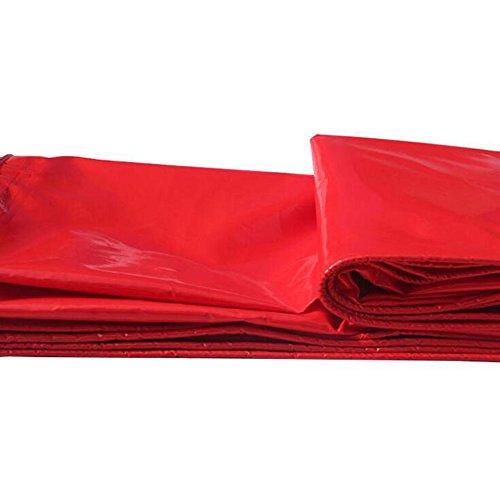 Pengbu MEIDUO Bâches Bâche imperméable à l'eau de bâche, Multi-Usage résistant, extérieur Rouge 460g / m², 0.45mm pour l'extérieur (Couleur : Rouge, Taille : 4 * 5m)