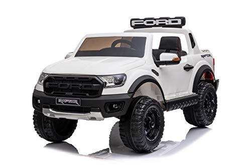 Mondial Toys Voiture électrique pour enfants Ford Ranger Raptor 12 V Pick Up 2 places Sièges en...