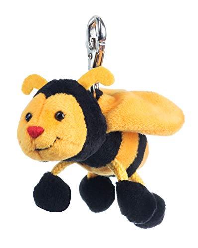 Schaffer 247 Sabiene Biene Plüschtier Schlüsselanhänger, gelb-schwarz, 9 cm