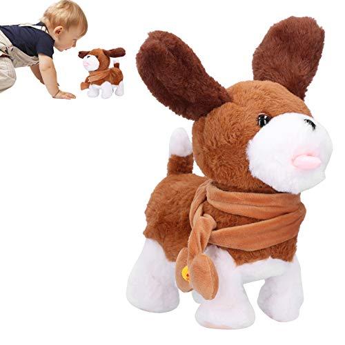 Cachorro de estimação eletrônico, brinquedo fofo de cachorro de pelúcia, para bebês meninas meninos(dog)