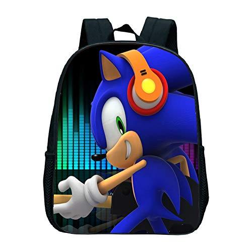XINKANG Sonic The Hedgehog Sonic Kindergarten Bag Kids School Bag Sonic Backpack Girls Boys School Bag Children's Backpack Cute Backpacks School Backpack