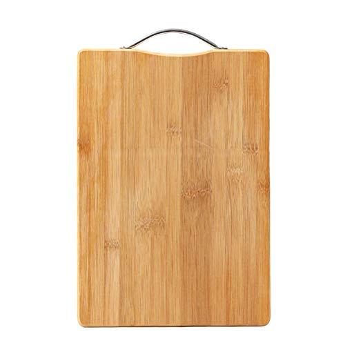 BESTONZON Planche à découper en Bambou Planche à découper et à Servir pour la préparation des Aliments, la Viande, Les légumes, Les Fruits, Les craquelins et Le Fromage (Grande Taille)