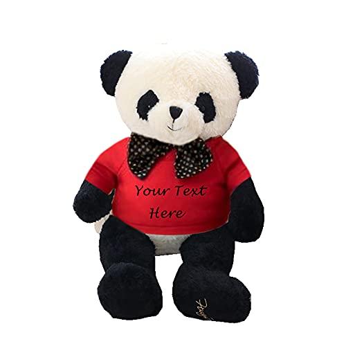 Juguetes de Panda de Peluche Personalizados de 40 cm, Juguete de Peluche de Panda con selección de 8 Colores, Juguetes de Peluche de Panda Personalizados de Word, Juguete de Regalo con Nombre