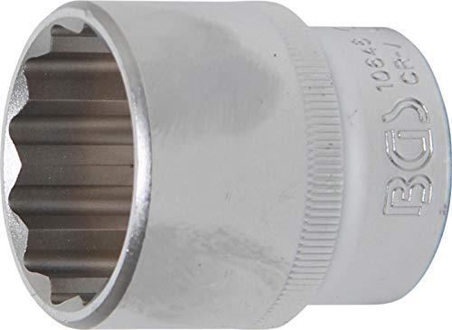 BGS 10646 | Steckschlüssel-Einsatz Zwölfkant | 12,5 mm (1/2 Zoll) | SW 30 mm | CV-Stahl
