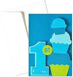 Il mio Primo compleanno - bambino - biglietto d'auguri (formato 15 x 10,5 cm) - vuoto all'interno, ideale per il tuo messa...