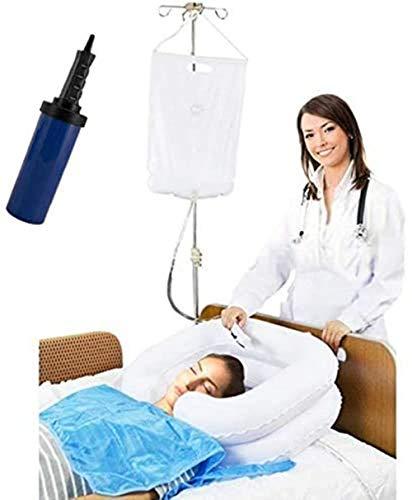 Sistema de ducha de noche, kit de lavabo inflable para cama de ancianos fácil, discapacitados, embarazo, postrado en cama (juego de 6)