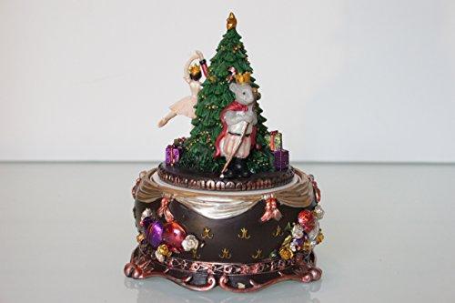 Gisela Graham - Drehbare Spieluhr mit Weihnachtsbaum-Motiv – die Nussknacker-Suite.