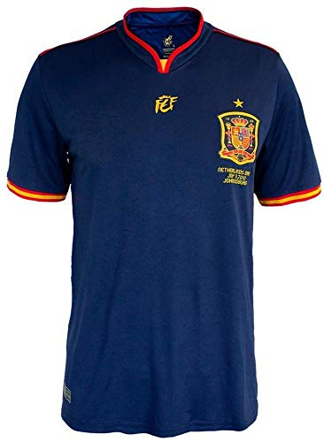 RFEF Regular Fit Camiseta oficial conmemorativa final Mundial Sudáfrica 2010, Navy, XL