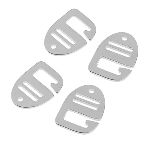 Aluminium G Haken Webbing Buckle Rucksack Gurt Band Strap Schnalle 25mm Silber (4 Stück Pack)