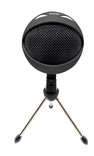 eoqo Big Mouth Studio USB Microphone Plug & Play Home Studio Condenser Microphone for Skype,Recordings for Youtube,Google Voice Search,Game(Window/Mac) (Black)