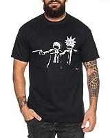 RM Pulp Camiseta de Hombre Morty Dan Fiction Sanchez Mr Rick Meeseeks Harmon, Farbe2:Negro, Größe2:XXXX-Large