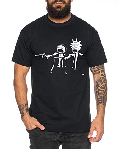 RM Pulp Camiseta de Hombre Morty Dan Fiction Sanchez Mr Rick Meeseeks Harmon
