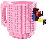 HLR Tazas de Café Tazas para Espresso Taza Taza de Leche S350ml Taza de café Taza de la Taza de ladrillo Tazas de la Taza de la Taza de Bebida para los Bloques de construcción de Lego (Color : #1)