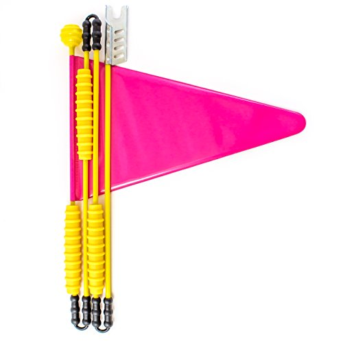 Cycley | Fahrradwimpel | Fahrradfahne für Kinderfahrrad | verschiedene Farben | 4-teilig | Wimpel Länge 160 cm | z.B. Sicherheitswimpel fürLaufrad (pink)