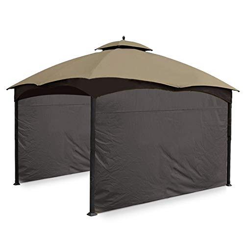 Gafrem 2 Pack Gazebo Universal Replacement Privacy Curtain Panel Side Wall fits 10'x10' and 10'x12' Gazebos (10'x12' Feet, Brown)