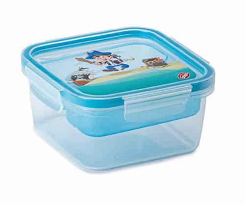 Snips Lunch Box Per Bambino Decoro Pirata 0,80 lt Quadrato -Snips SnipsLock Lunch Box Kids 0,80 Lt Quadrato -Made in Italy