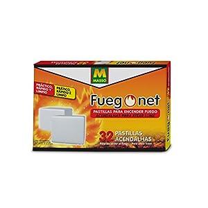 FUEGO NET Fuegonet 230112 Pastillas, Blanco, 19.5 x 3 x 12.8 cm