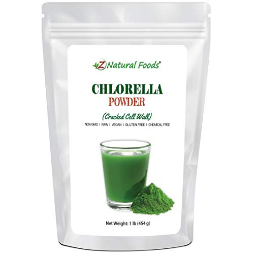 Z Natural Foods Chlorella Powder - Broken Cell Wall - Amazing Blue Green Algae Superfood for Smoothies, Drinks, & Recipes - Raw, Non GMO, Gluten Free, Vegan, Plant Protein -1 lb