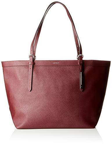 ESPRIT Accessoires Damen 998ea1o804 Tote Rot (Bordeaux Red)