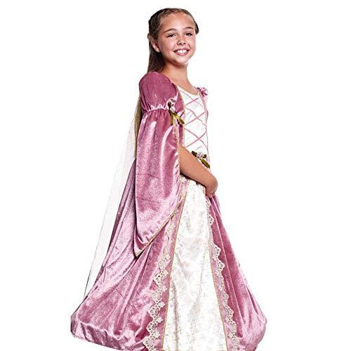 Disfraz Princesa Medieval Rosa Niña (7-9 años) (+ Tallas) Carnaval Medievales