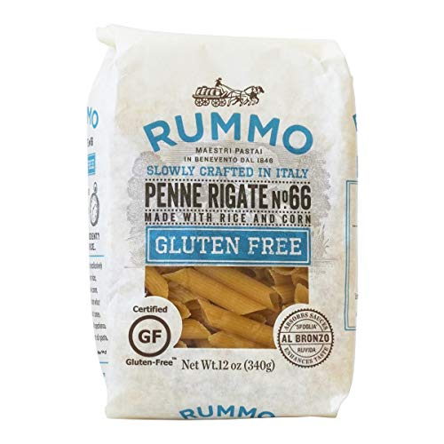 Rummo Penne Rigate N ° 66 | Italian Gluten Free Pasta | 12 Ounce | Pack of 6