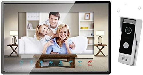 SHKUU Sistema intercomunicación con videoportero Dos Cables - Kit Timbre con Monitor LCD 7 'con IP 65 Impermeable y cámara visión Nocturna, comunicación Dual Manos Libres, para apartamento en casa