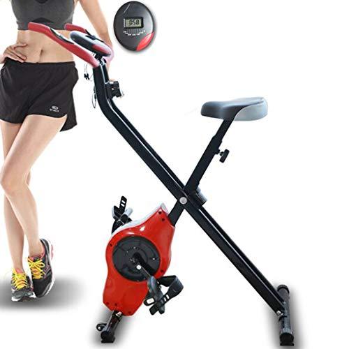Hometrainers Kettler Hometrainers Fiets Met Hartslag Indoor Sport Fitnessapparatuur Stille Fiets Met Huishoudelijke Stille Magnetische Controle (Color : Red, Size : 70 * 42 * 110cm)