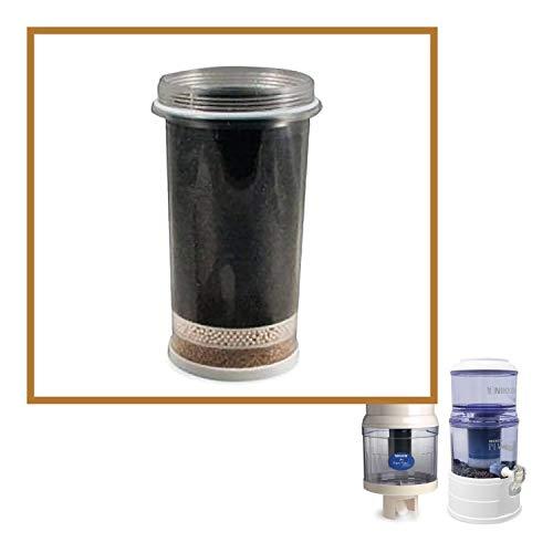 Nikken Aqua Pour 1 Filterkartusche – 1361, fortschrittlicher Ersatz für Gravity-Wasserfilteranlage 1360, PiMag Wassersystem, produziert alkalisches Wasser, Benzol, Radon und Lösungsmittel – Filtro De Aqua