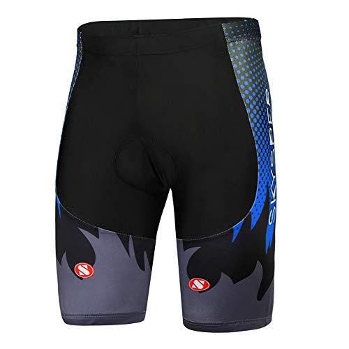 SKYSPER Pantaloncini da Ciclismo Uomo con Imbottiti in Gel 3D Leggings per Ciclismo Traspiranti ad Asciugatura Rapida Pantaloncini Corti per Ciclista MTB Bici da Strada da Città