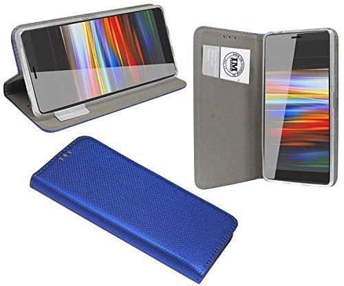 cofi1453® Buch Tasche Smart kompatibel mit Sony Xperia L3 Handy Hülle Etui Brieftasche Schutzhülle mit Standfunktion, Kartenfach Blau