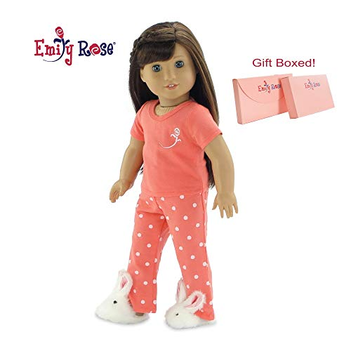 Emily Rose 18 Inch Doll Clothes for American Girl Dolls | 18' Doll Pajamas PJs, Includes 18 Inch Doll Easter Bunny Slippers! | Gift Boxed! | Fits 18' American Girl Dolls