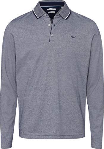 BRAX Herren Style Pharell Easy Care Interlock Polo Casual Langarmshirt, Ocean, X-Large (Herstellergröße: XL)