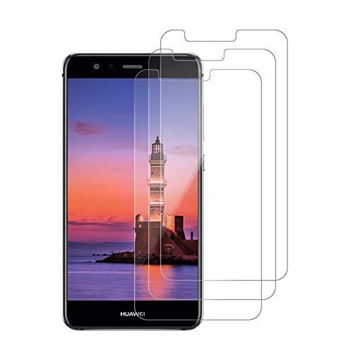 [3 Pièces] Verre Trempé pour Huawei P10 Lite, Protection D'écran, Vitre 9H Dureté, Haute Définition, Installation Simple sans Bulles, Anti Rayures, Protection Ecran pour Huawei P10 Lite-Transparent
