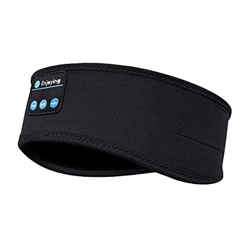 Cuffie Per Dormire, Auricolari Sportivi Con Fascia Bluetooth, Altoparlanti Stereo Ad Alta Definizione Incorporati, Maschera Per Gli Occhi Per Sport Yoga Persone Che Dormono(Nero)