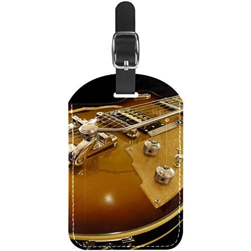 Etiquetas de equipaje para guitarra lectric color marrón, para maleta de viaje, 1 paquete